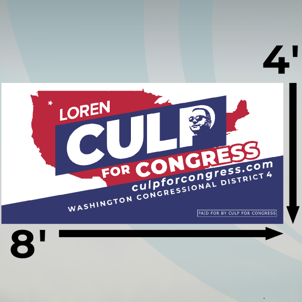 Large Culp for Congress Field Sign